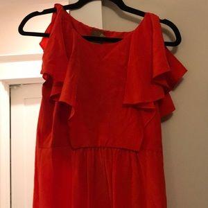 Red Ali Ro silk dress